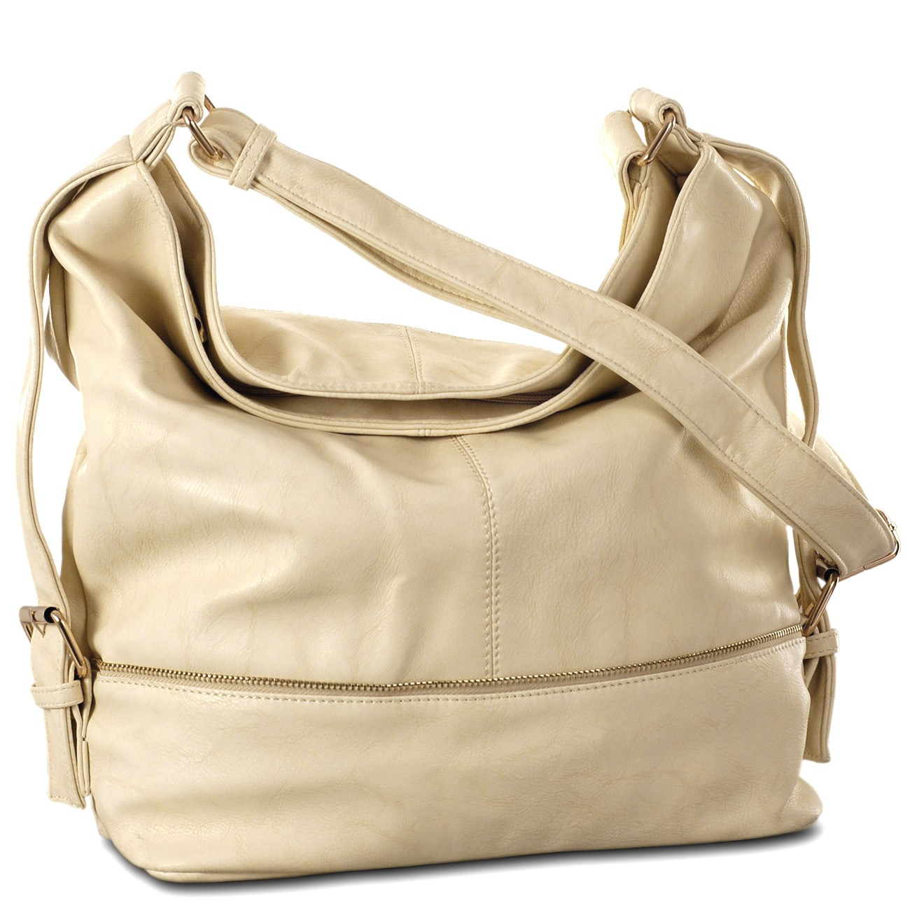 MCM Damen Tasche Handtasche Umhängetasche beige creme
