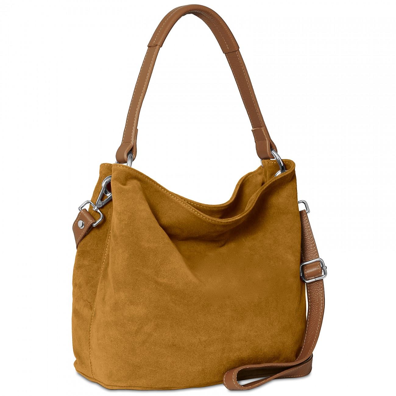 caspar tl580 damen handtasche aus hochwertigem wildleder taschen. Black Bedroom Furniture Sets. Home Design Ideas
