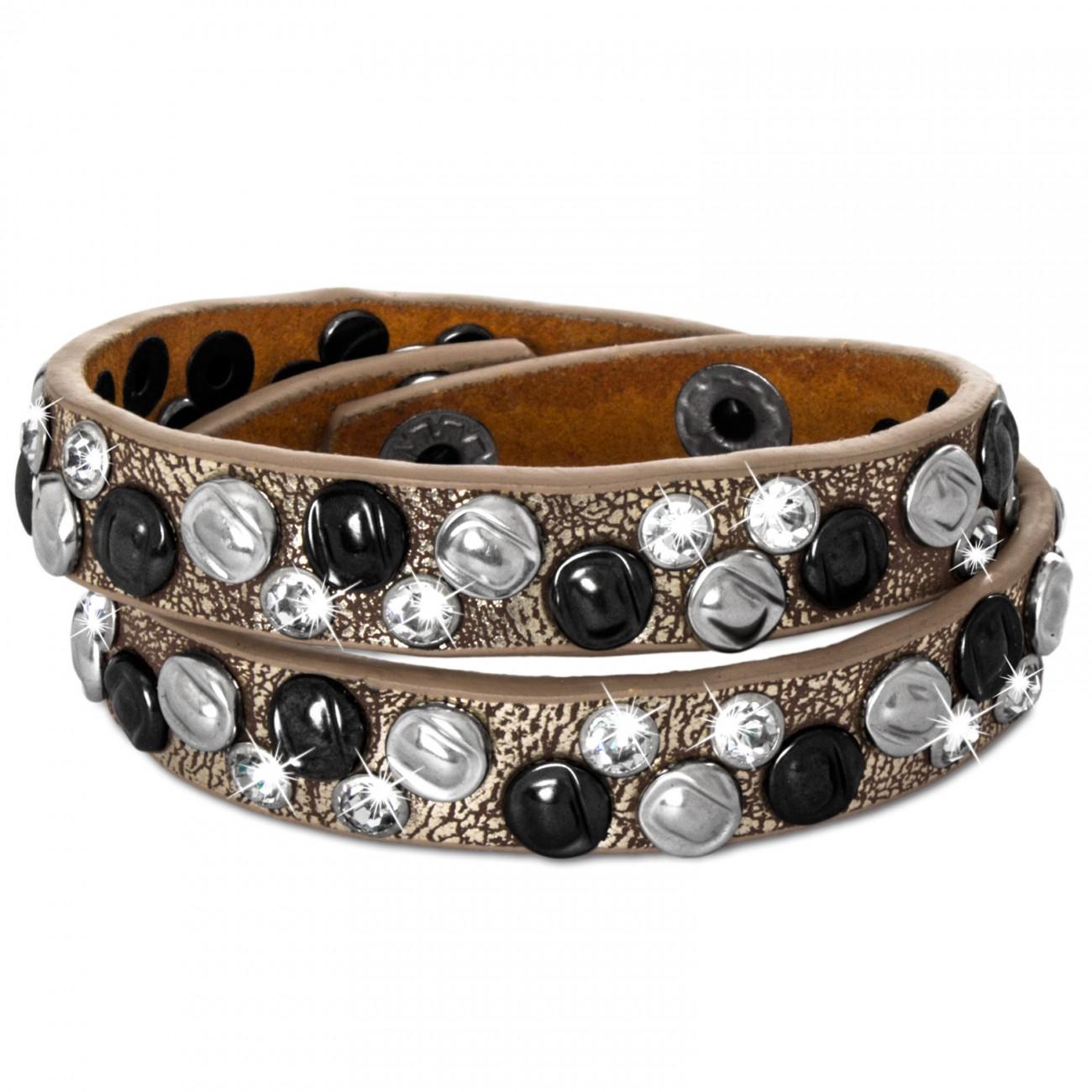 Caspar damen armband stiefelband stiefelschmuck mit for Stylischer design couchtisch orbit 85 cm kupfer schwarz