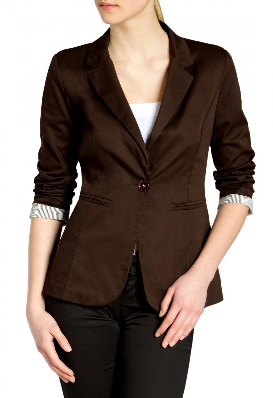 caspar bzr003 damen leichter eleganter sommer blazer 3 4 arm slim fit bekleidung jacken blazer. Black Bedroom Furniture Sets. Home Design Ideas
