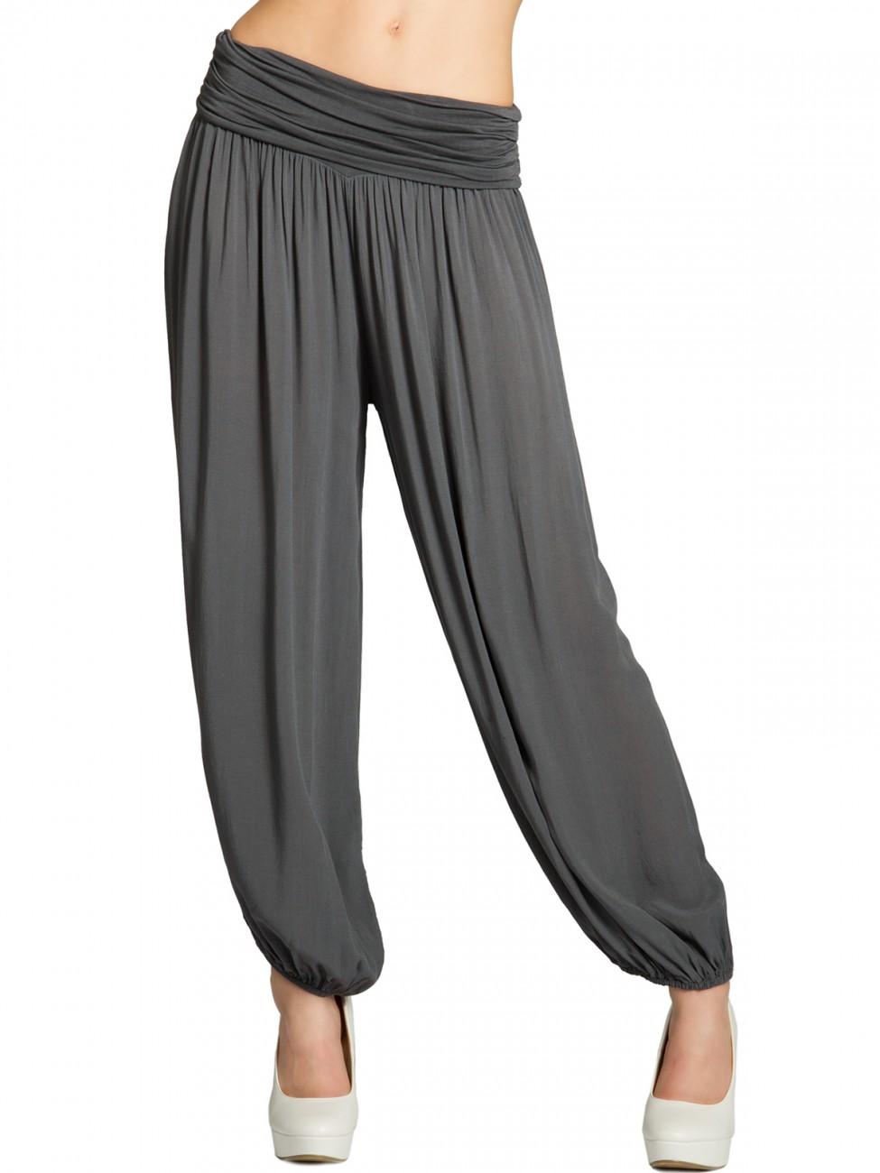 caspar khs035 damen baumwoll haremshose bekleidung hosen stoffhosen. Black Bedroom Furniture Sets. Home Design Ideas