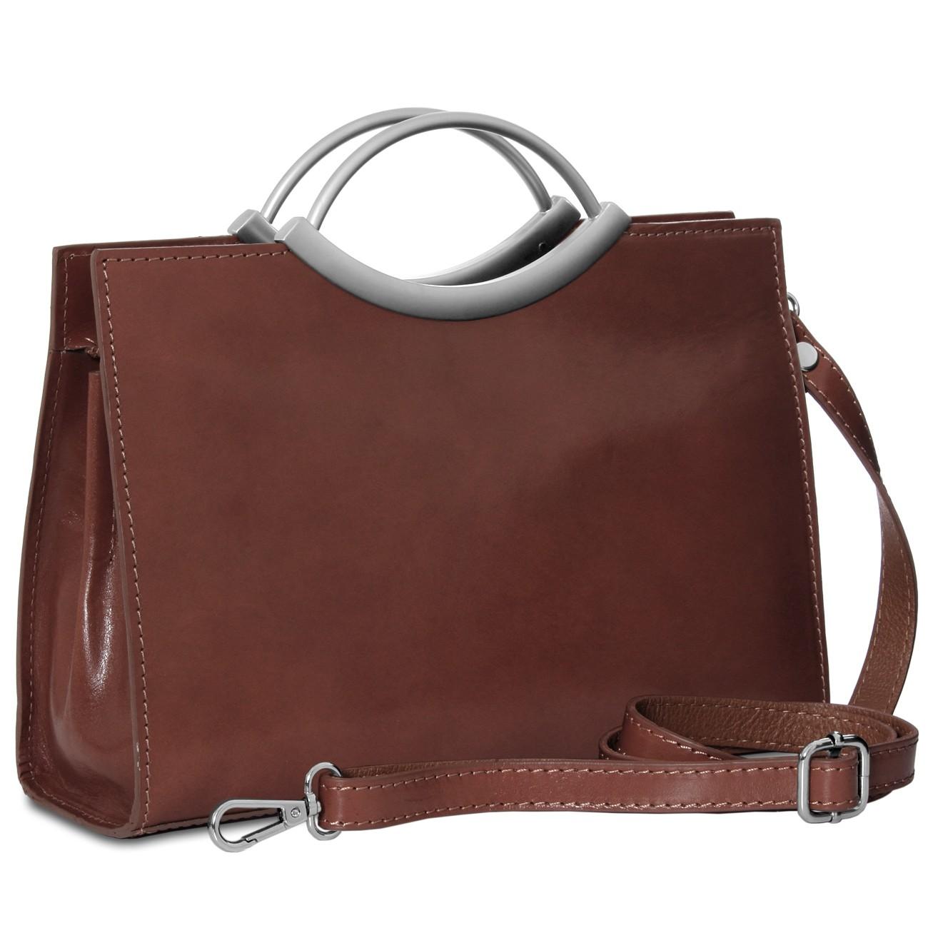 CASPAR Womens Small Leather Handbag / Tote / Business Bag ...
