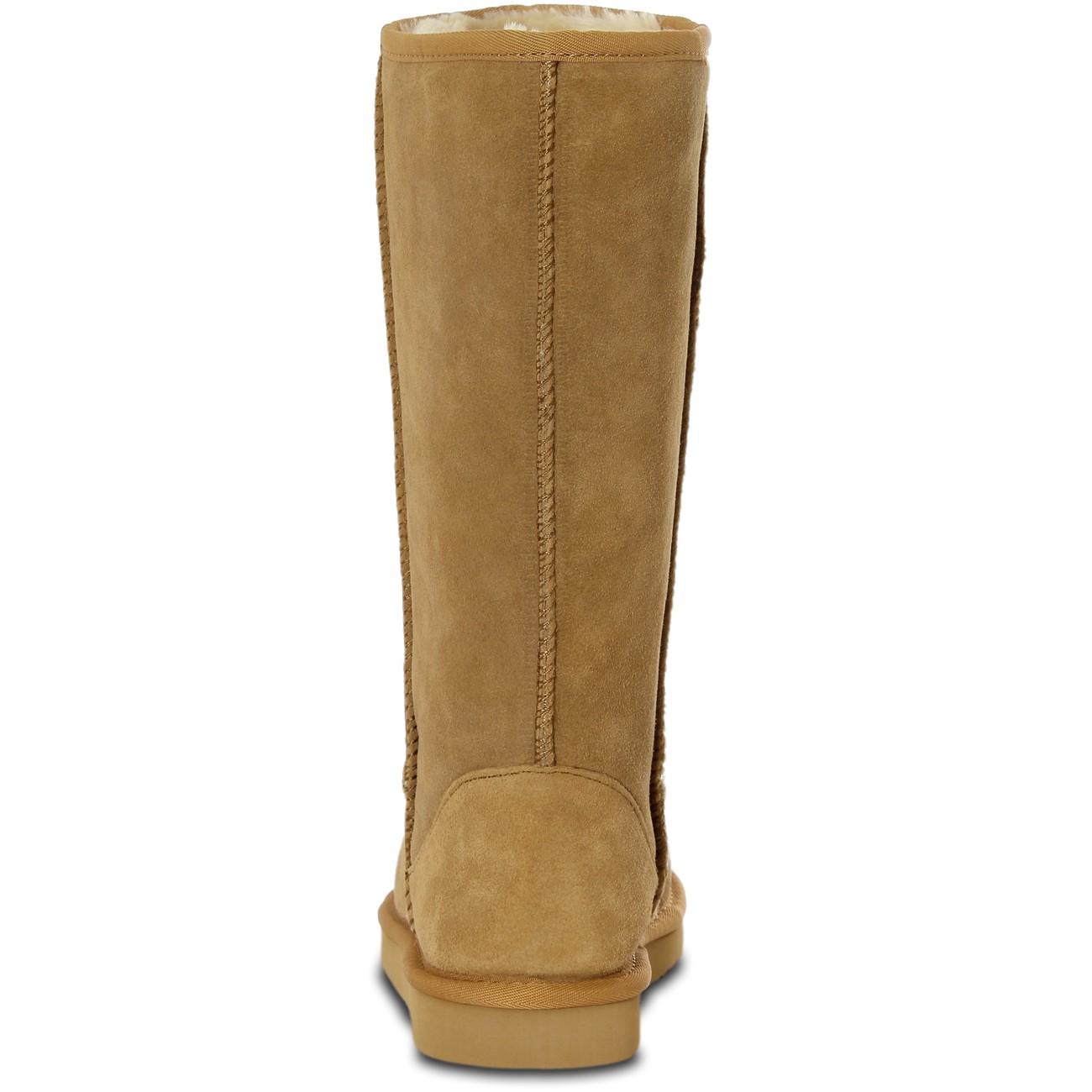 farasion damen winter leder boots stiefel mit hohem. Black Bedroom Furniture Sets. Home Design Ideas