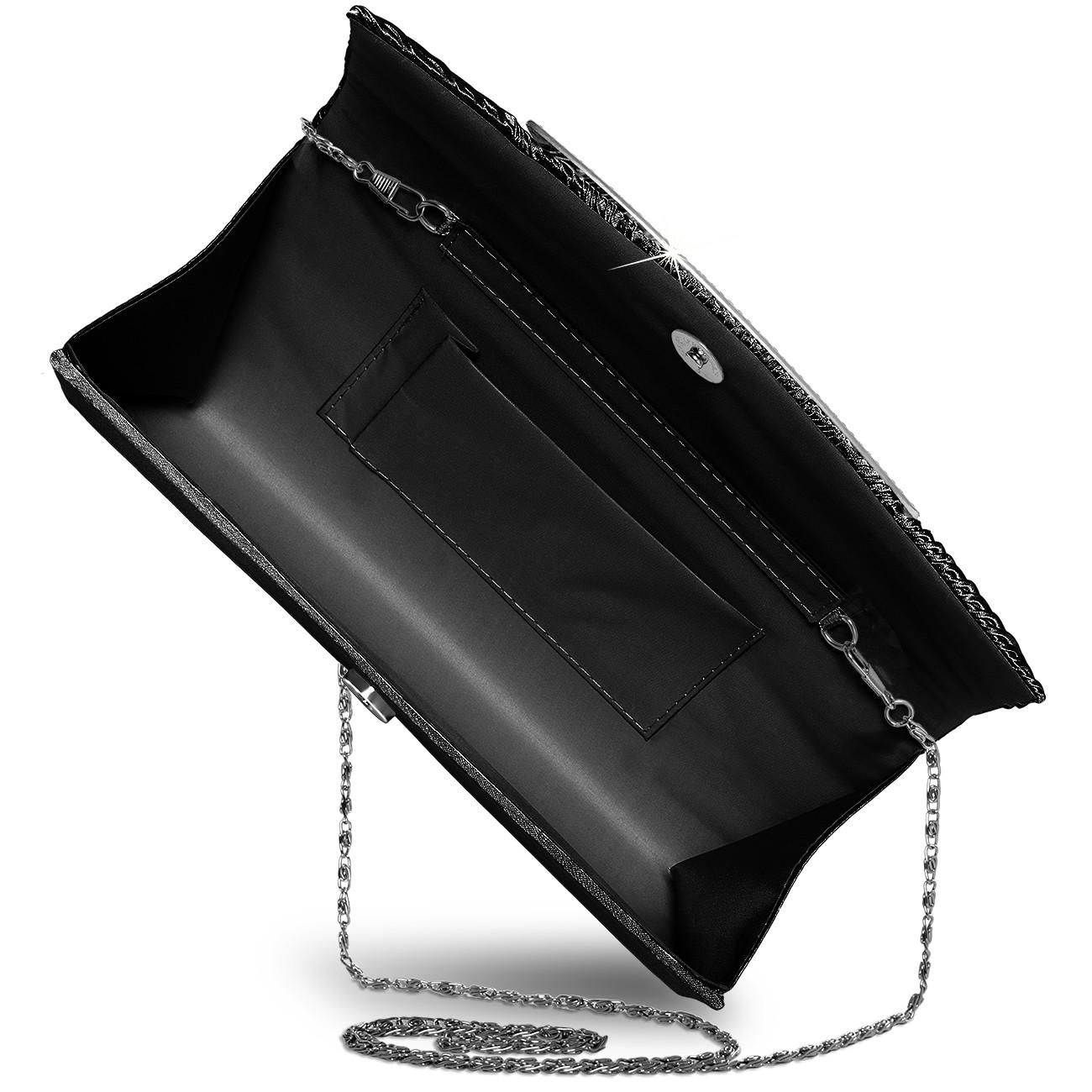 caspar ausgefallene damen satin clutch abendtasche mit. Black Bedroom Furniture Sets. Home Design Ideas