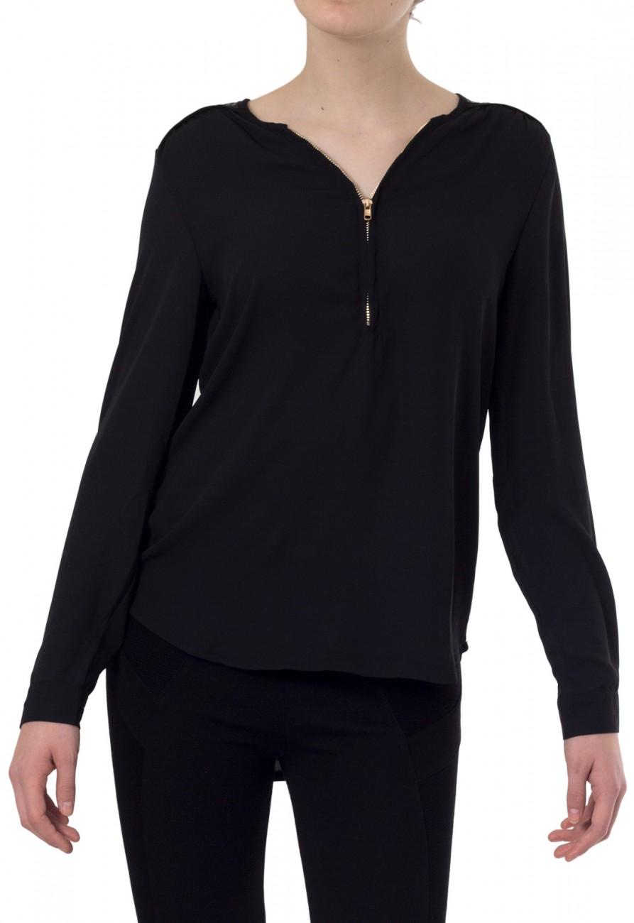 caspar damen bluse aus halbtransparentem chiffon mit. Black Bedroom Furniture Sets. Home Design Ideas