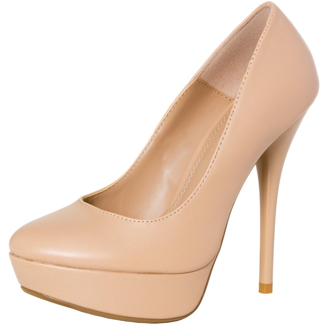 caspar damen high heels pumps mit plateau absatz und. Black Bedroom Furniture Sets. Home Design Ideas