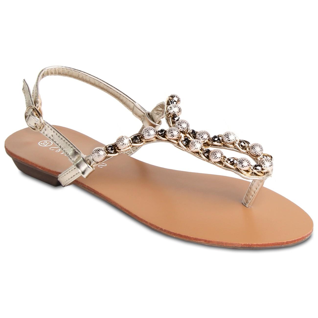 caspar damen sandaletten sandalen zehentrenner mit. Black Bedroom Furniture Sets. Home Design Ideas