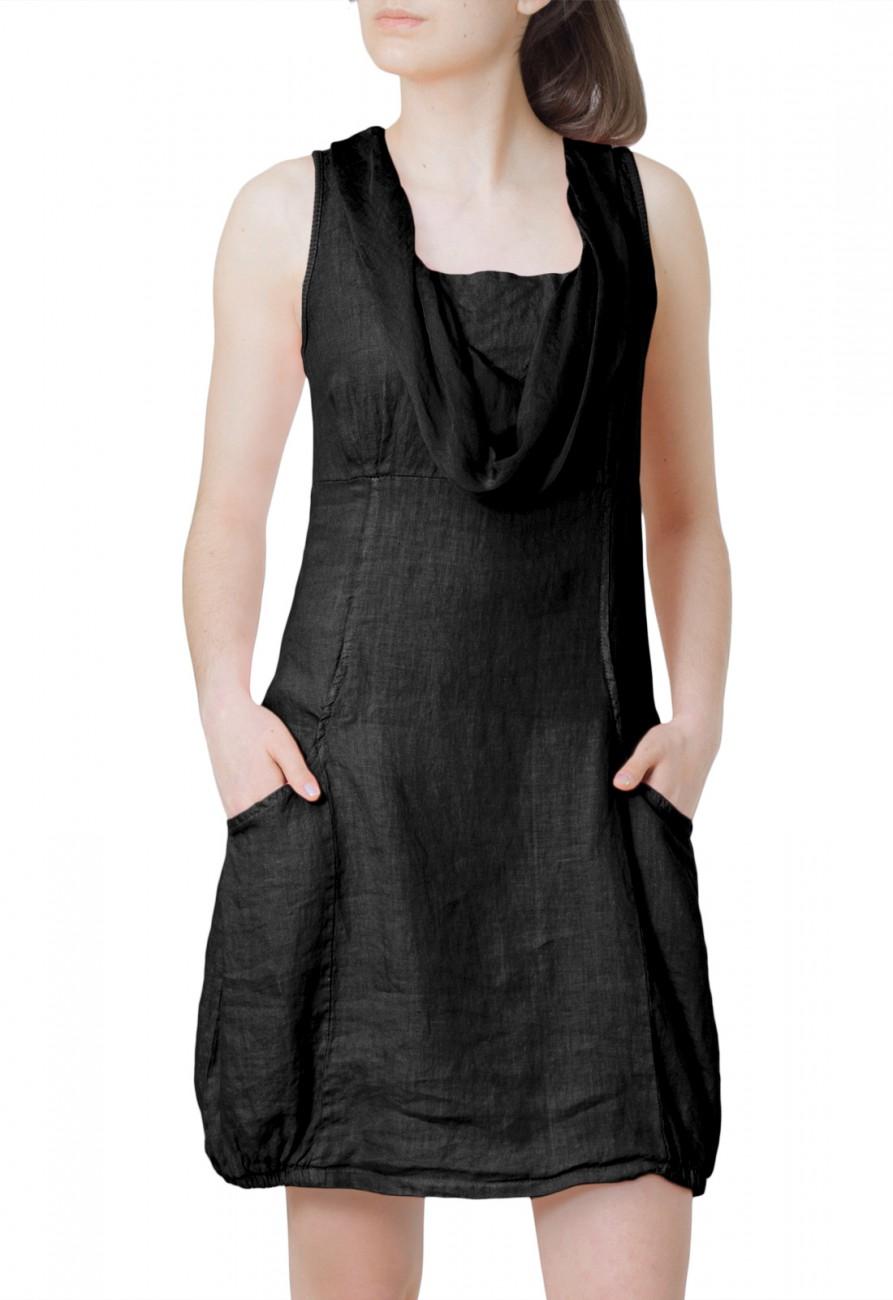 CASPAR Damen elegantes leichtes Sommerkleid aus Leinen mit ...