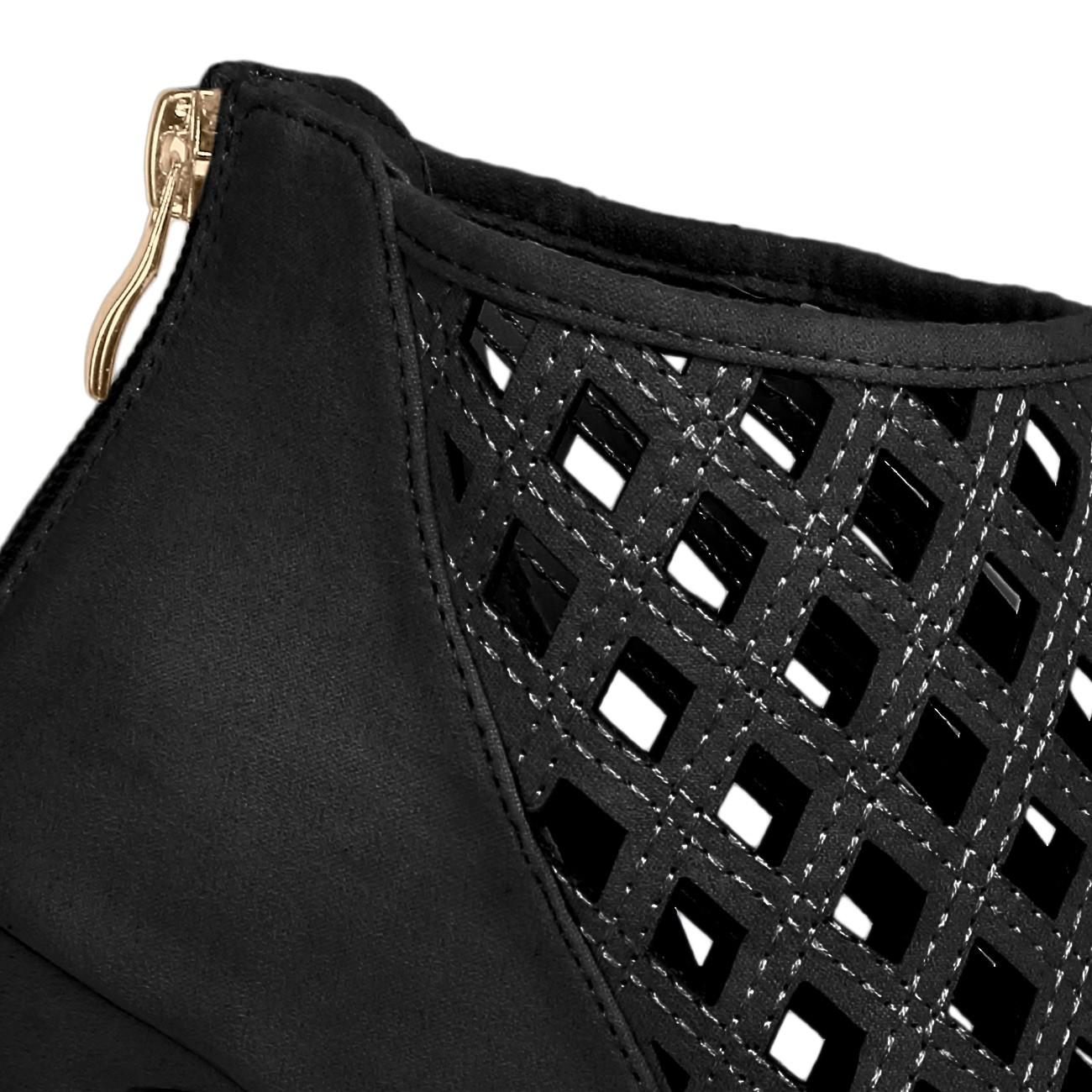caspar damen schuhe ankle sandalen peep toe mit. Black Bedroom Furniture Sets. Home Design Ideas