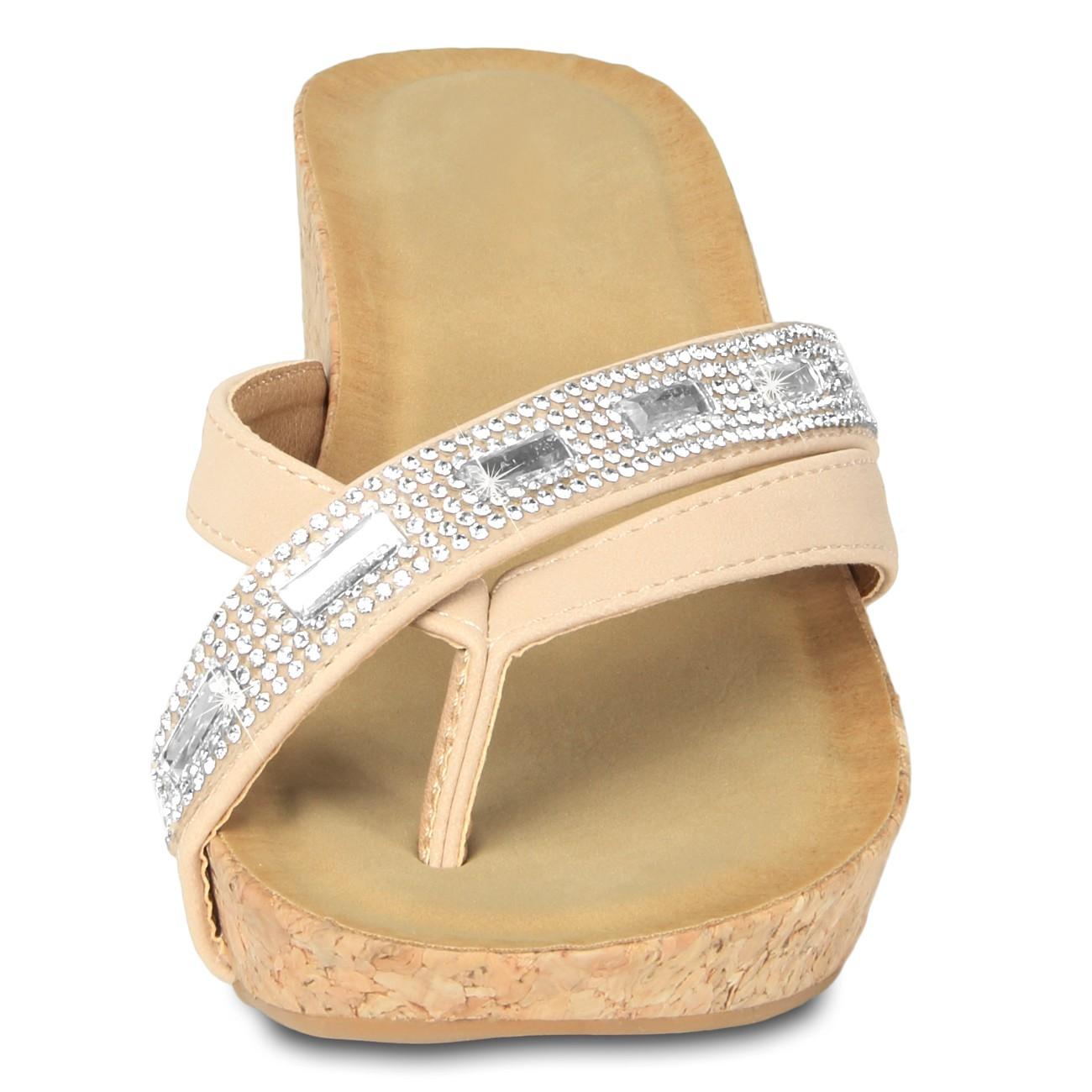 sandalen mit steinen caspar damen sandaletten sandalen. Black Bedroom Furniture Sets. Home Design Ideas
