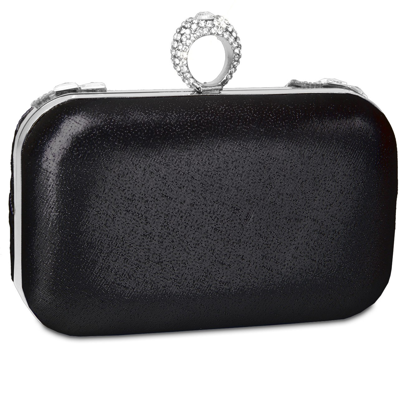 caspar damen elegante box clutch abendtasche mit. Black Bedroom Furniture Sets. Home Design Ideas