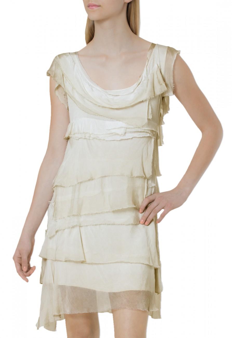 caspar damen leichtes kleid sommerkleid mit franzen aus. Black Bedroom Furniture Sets. Home Design Ideas