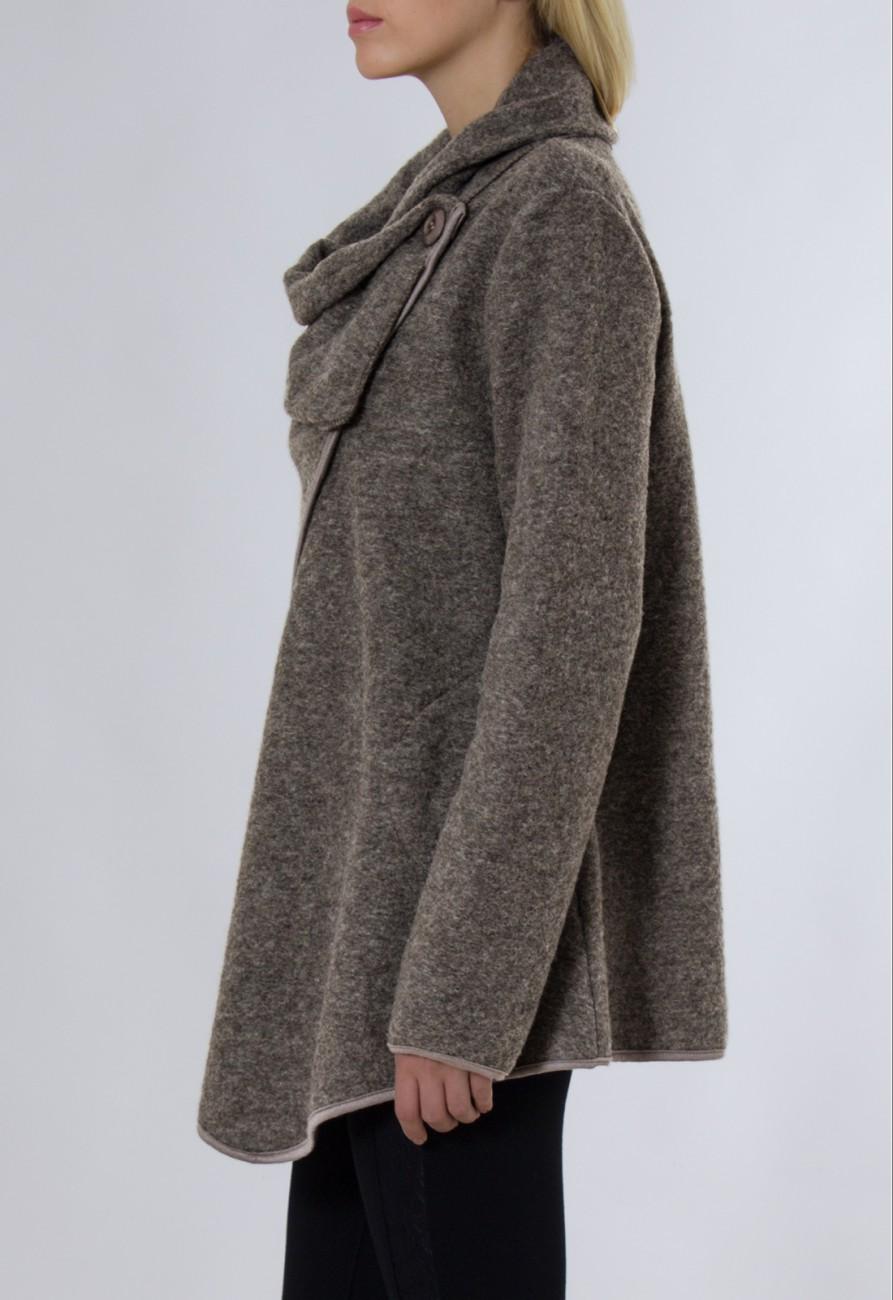 caspar damen warme winter jacke strickjacke cardigan