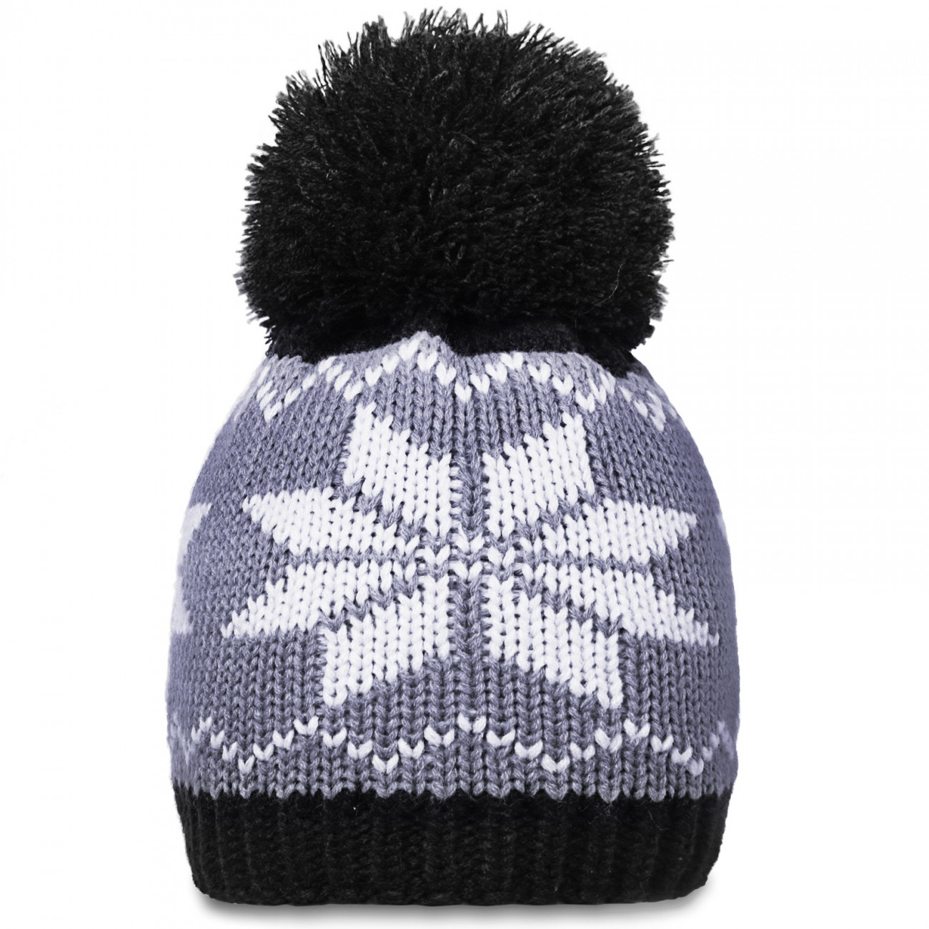 CASPAR Womens Winter Knitted Ski Hat Chunky Bobble with Pattern - many colour...