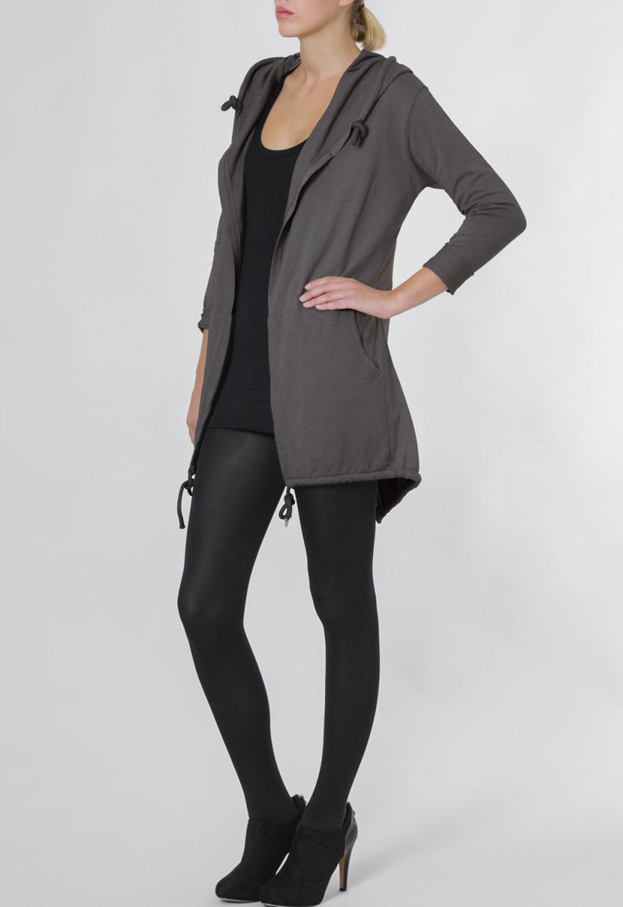 caspar damen lange offene jersey weste jacke cardigan. Black Bedroom Furniture Sets. Home Design Ideas