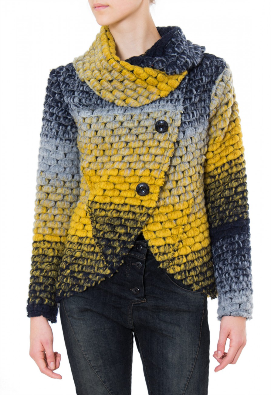 caspar damen wolljacke wool jacket grob gewirkte jacke. Black Bedroom Furniture Sets. Home Design Ideas